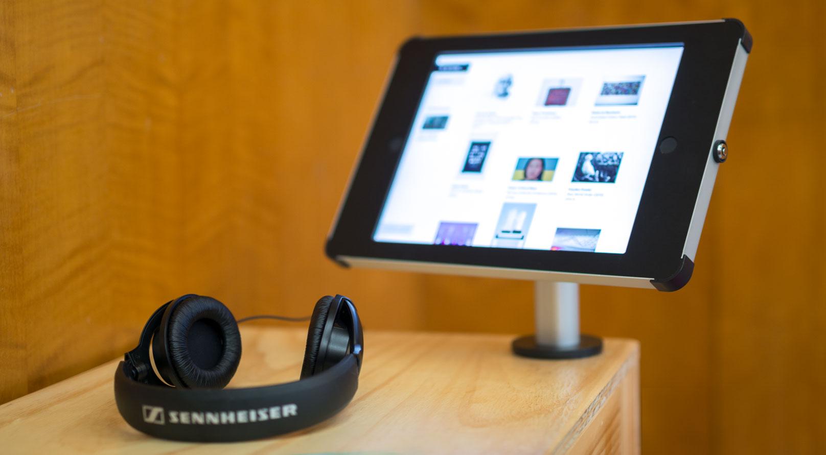iPad Desk Mount Enclosure at Exhibition