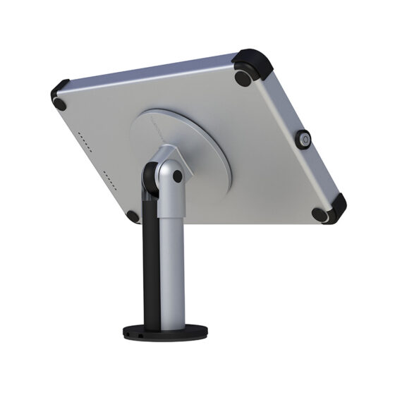 Rear desk mount tablet enclosure