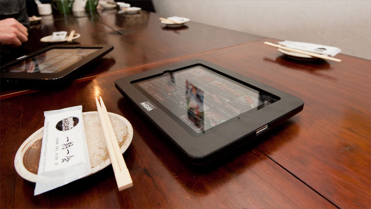 Xpanel Tablet Enclosure at Japanese Restaurant