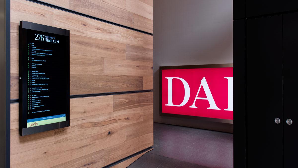 Digital Building Directory at 276 Flinders Street Melbourne