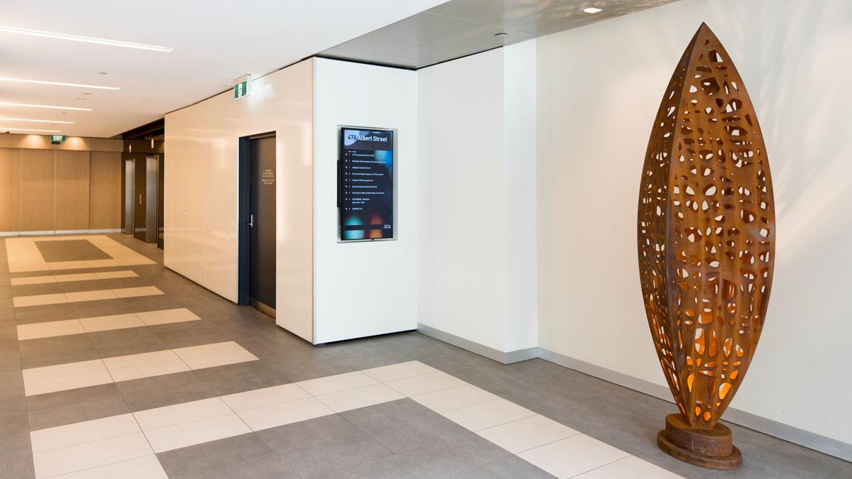 Digital Directory Albert Street foyer Melbourne
