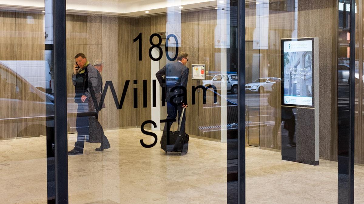 Digital Direcvtory William Street Melbourne