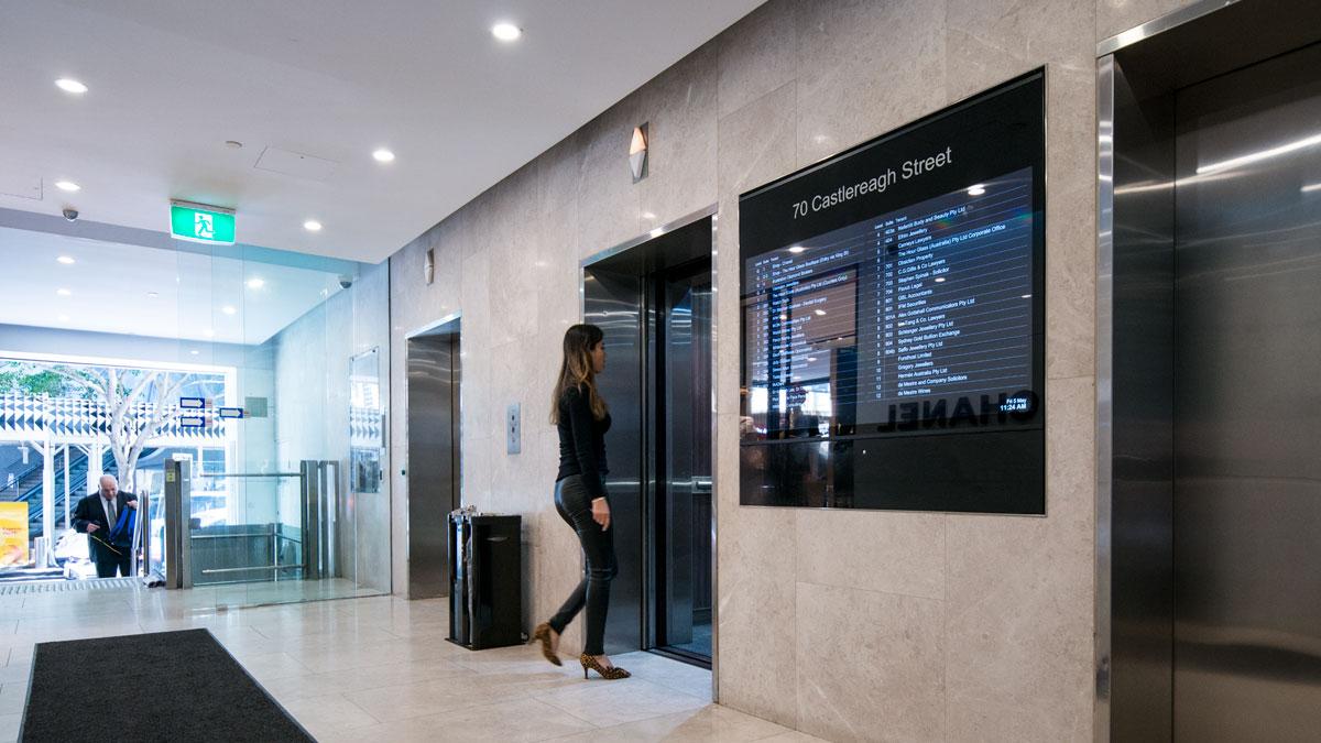 custom 55 inch tenant directory design