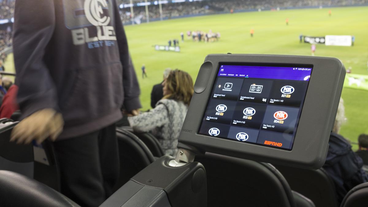 In sitiu etihad stadium AFL custom tablet enclosure