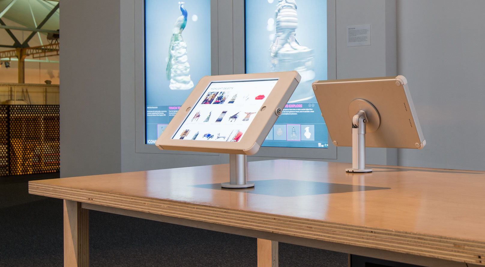 large format ipad desk mount enclosure