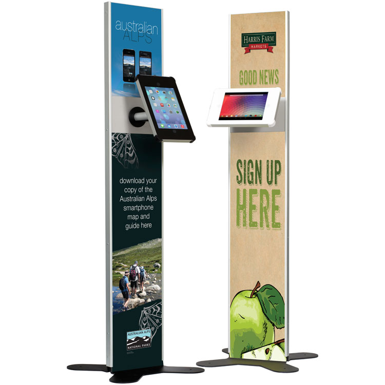 Branded display banner stand