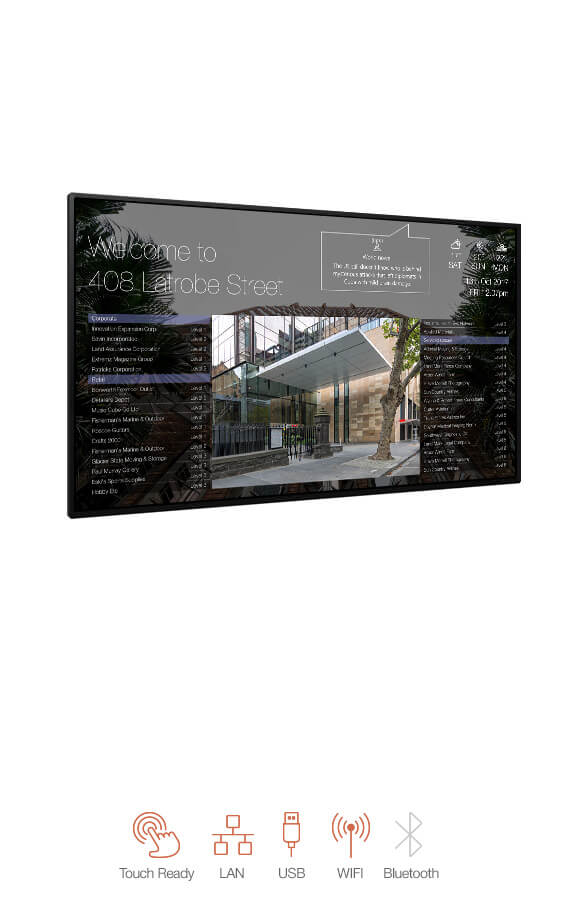 landscape wall mounted Building Directory
