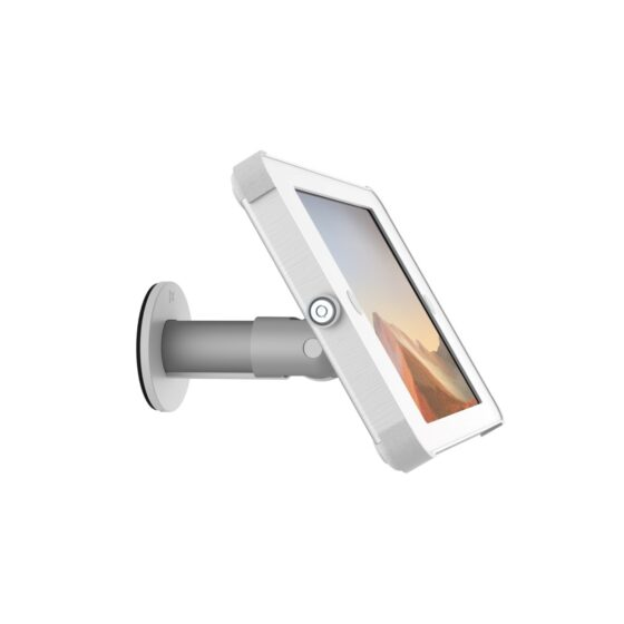 X Wall Adjustable Tablet Wall Mount White and Silver